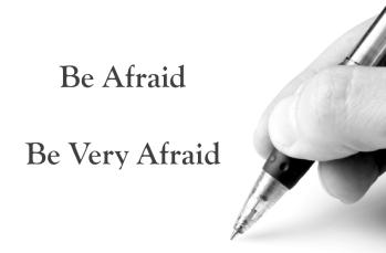 Be Afraid. Harry Tuttle, MCD, Modern Cave Dweller, writing